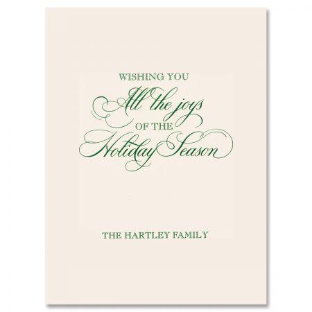 Festive Holiday Swag Greeting Card