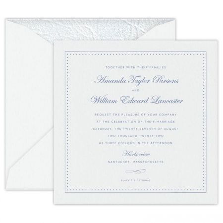 Seaside White Large Square Invitation