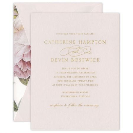 Magnolia Light Pink Invitation