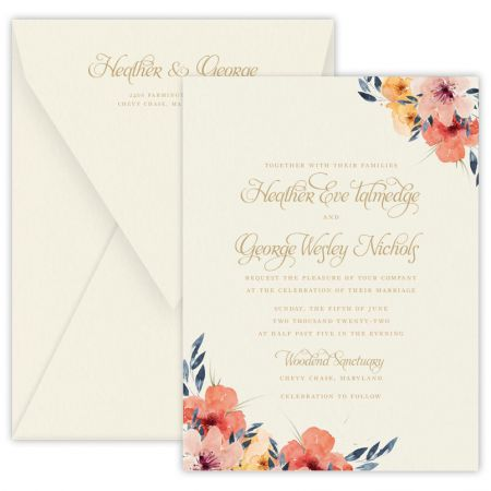 Watercolor Floral Invitation
