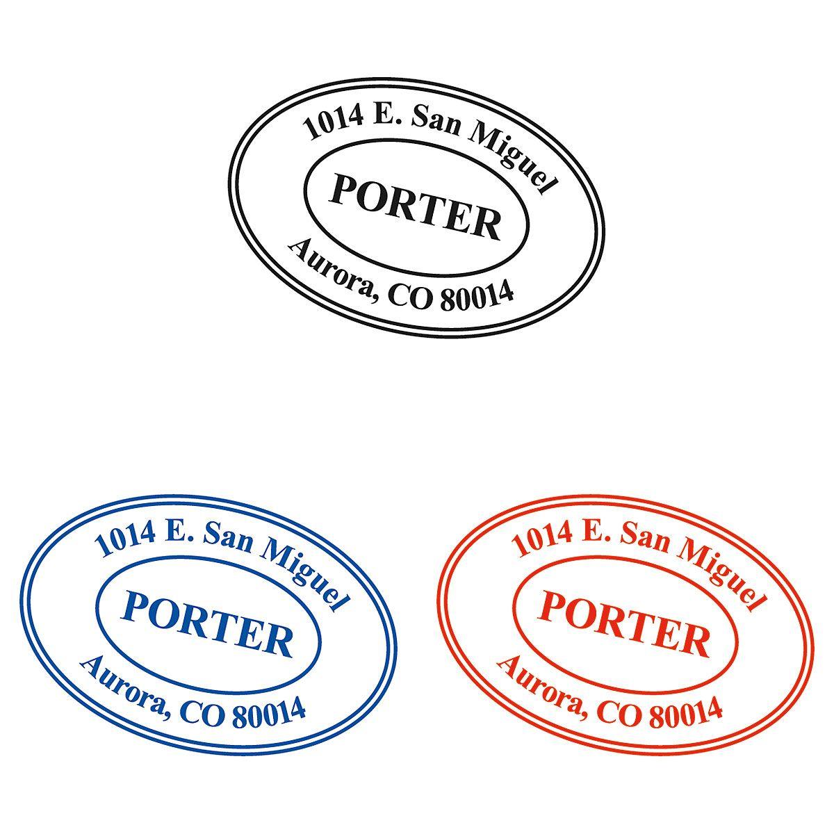 Oval Custom Self-Inking Address Stamp
