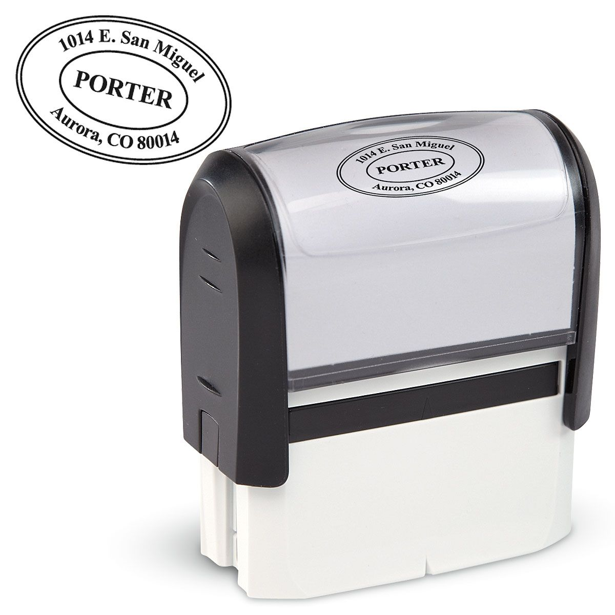 Custom Black Oval Self-Inking Address Stamp
