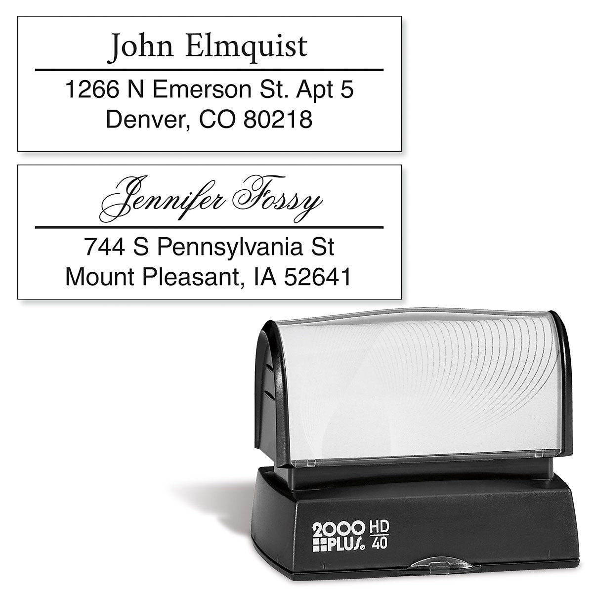 Accent Line Custom Address Stamp