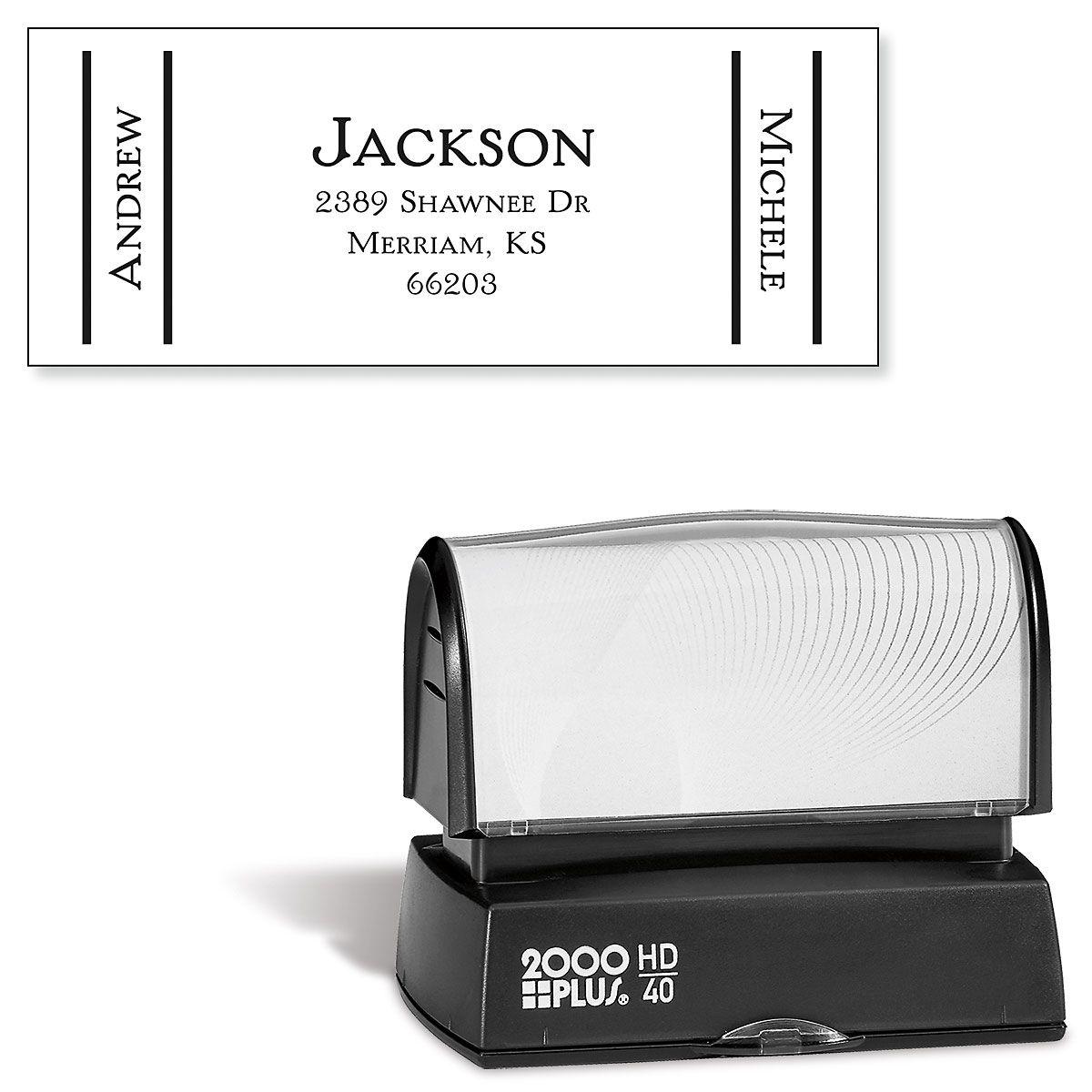 Side Show-Large Custom Address Stamp