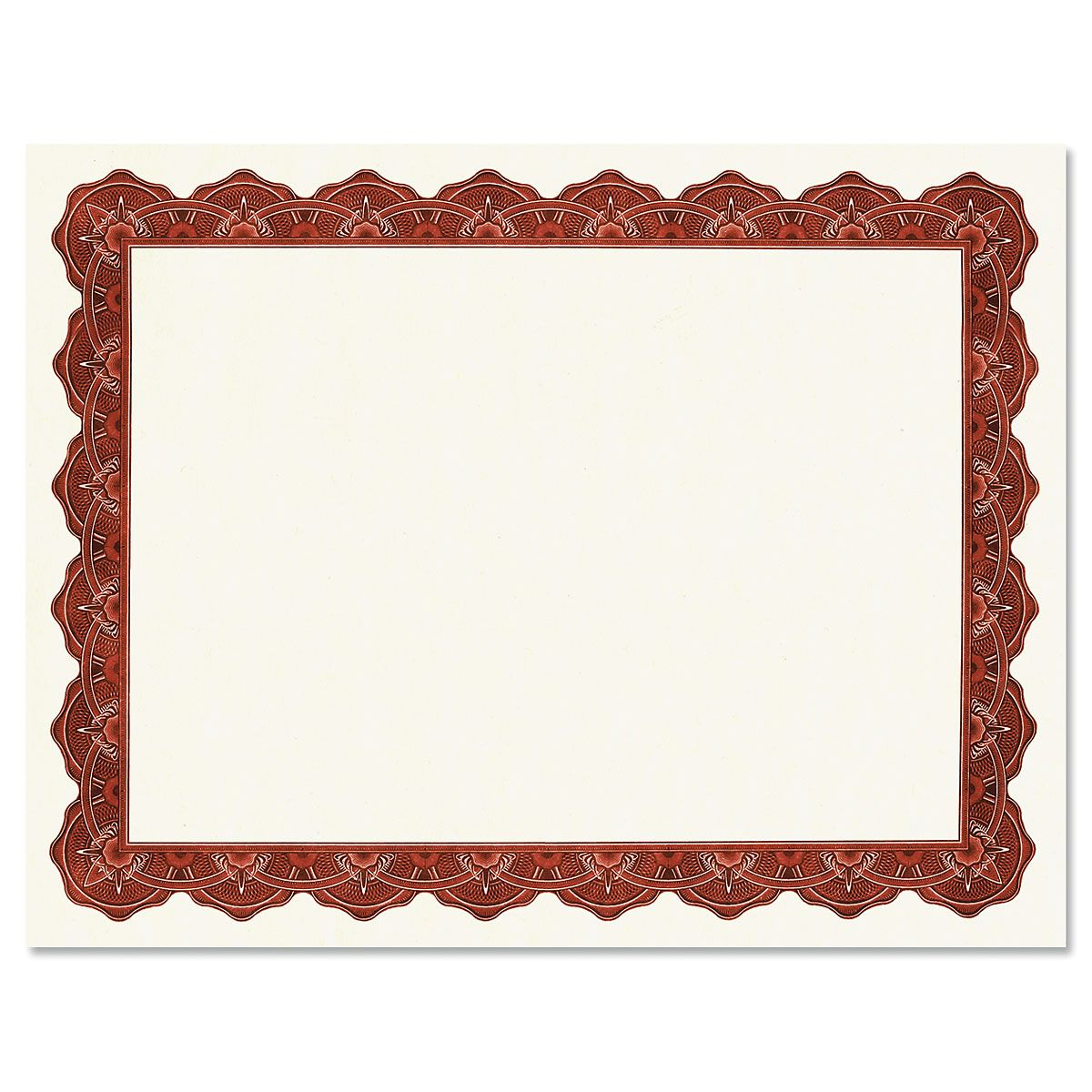 Majestic Maroon Certificate on White Parchment - Set of 50