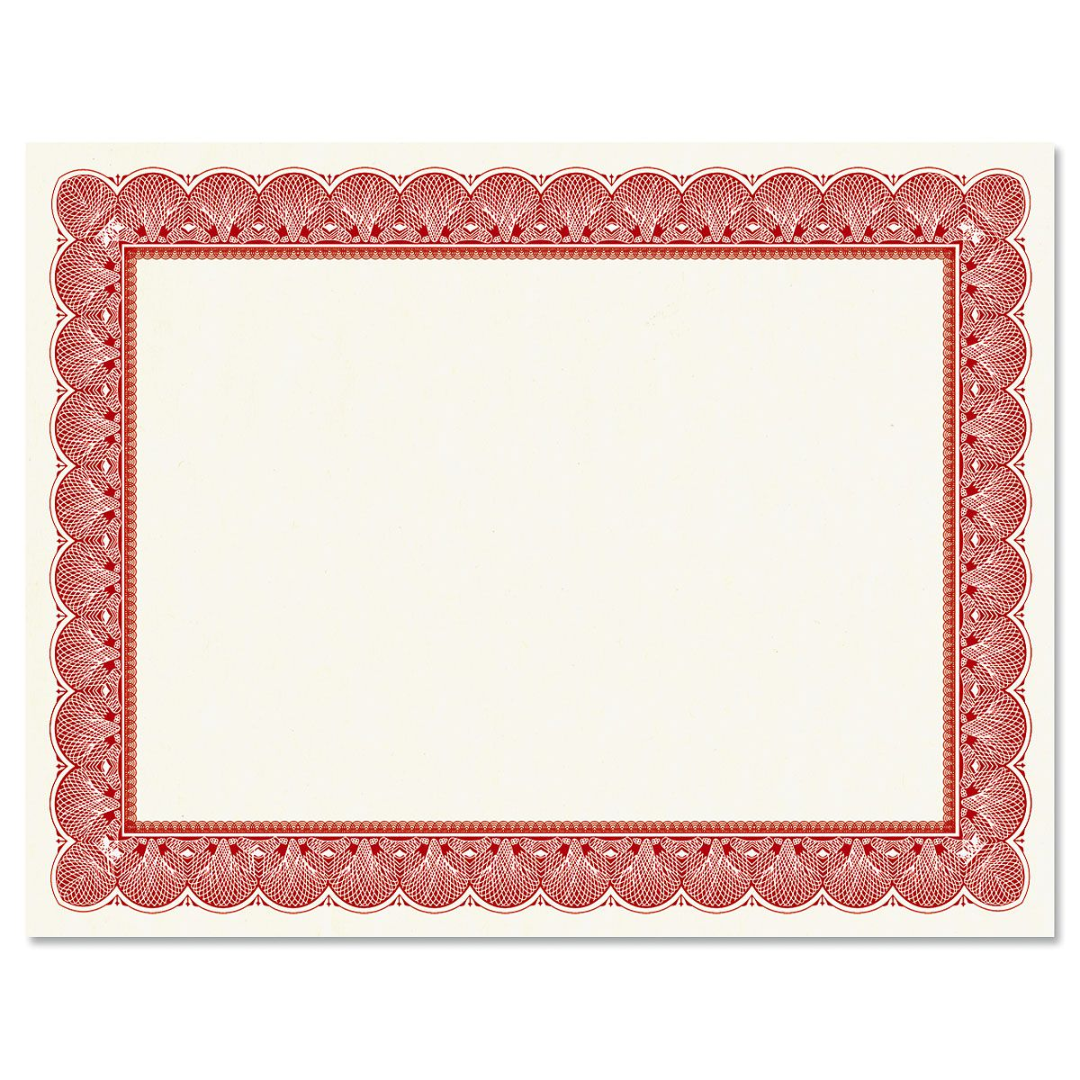 Elite Red Certificate Paper on White Parchment