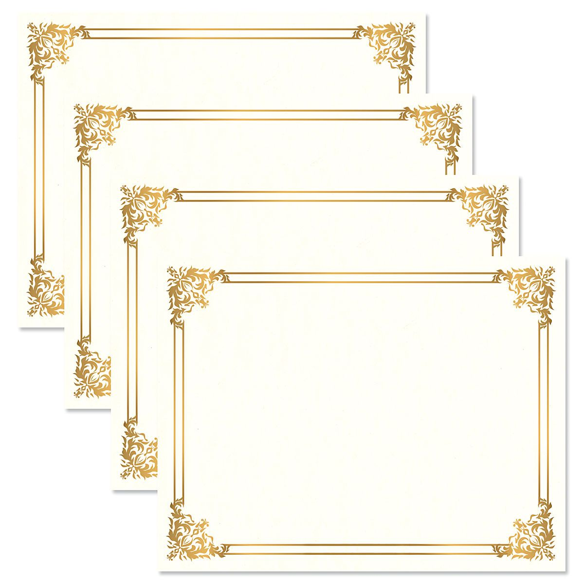 Empire Gold Certificate on White Parchment - Set of 50