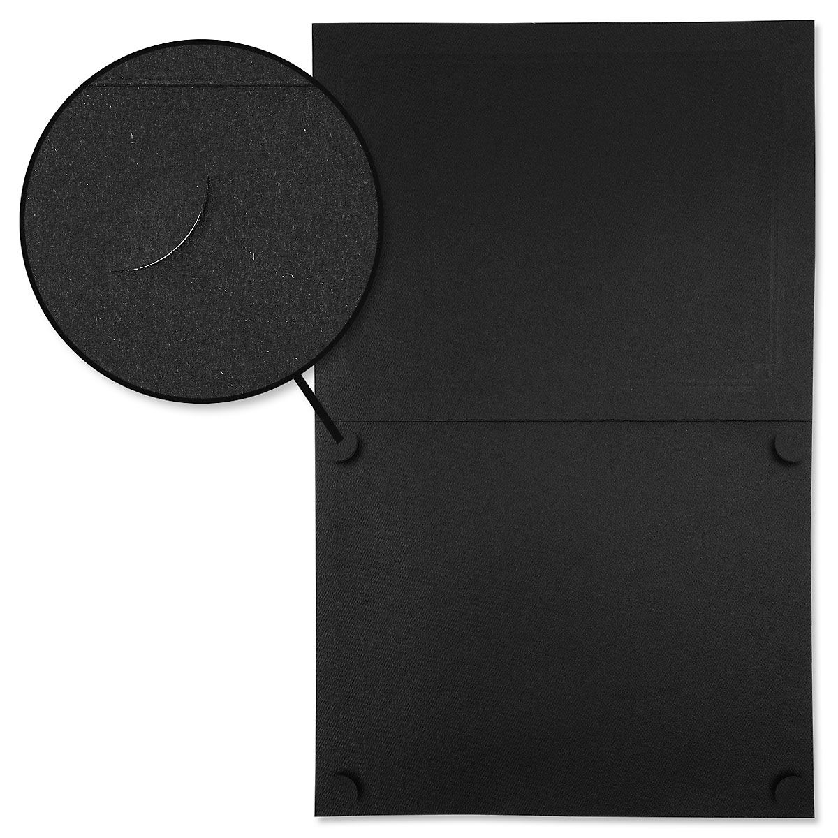 Classic Black Certificate Folder with Silver Border - Set of 25