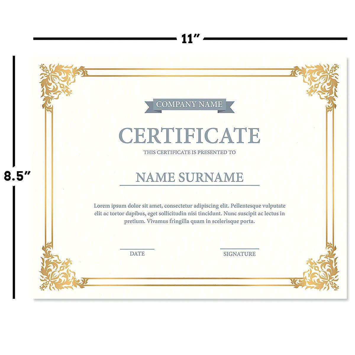 Ornate Empire Certificate Collection