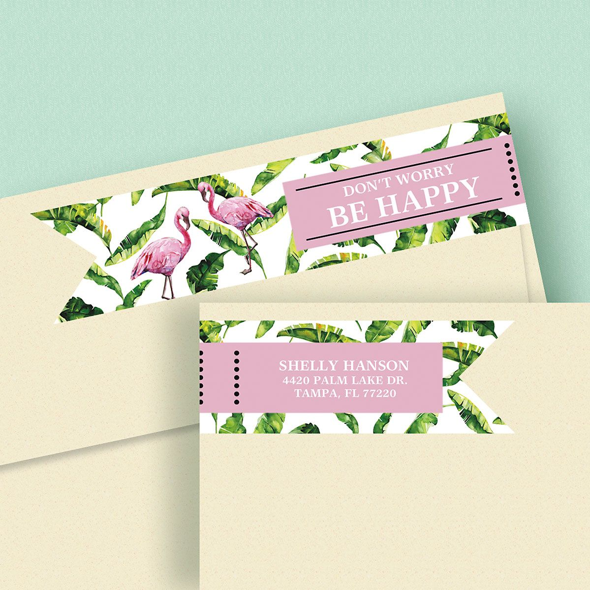 Kind & Lush Connect Wrap Diecut Custom Address Labels (4 Sayings)