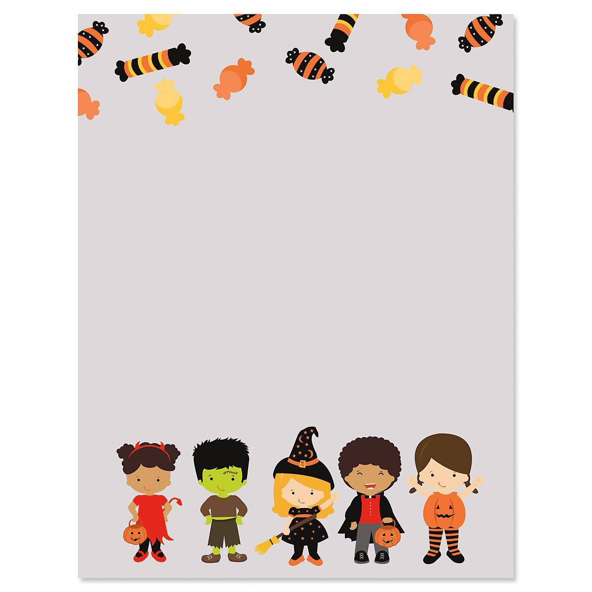 Trick or Treat Letter Papers