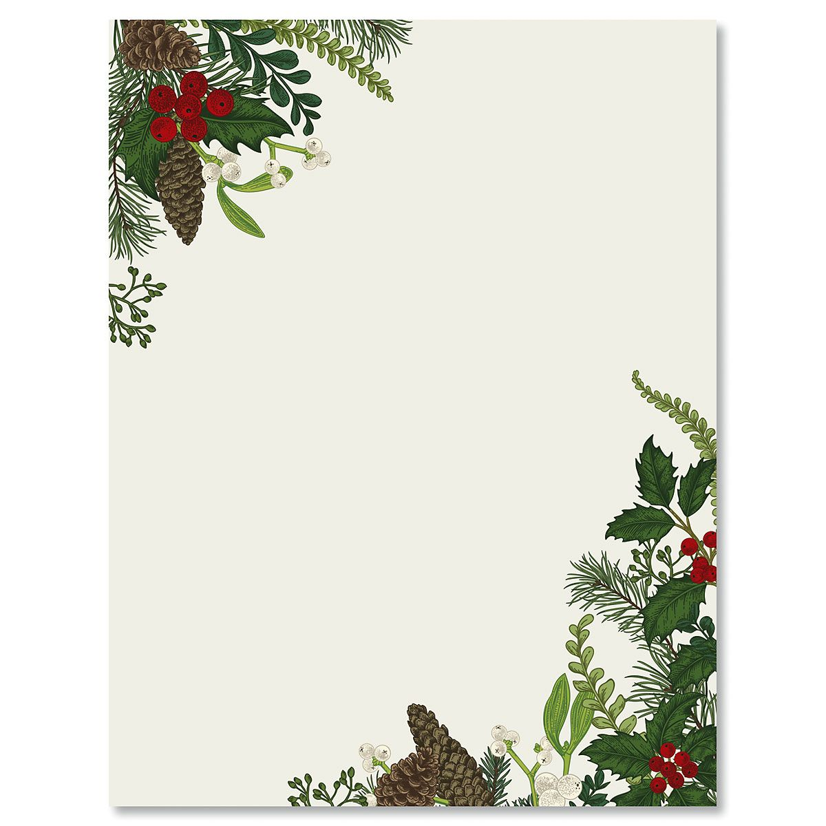 Abundant Holiday Letter Papers