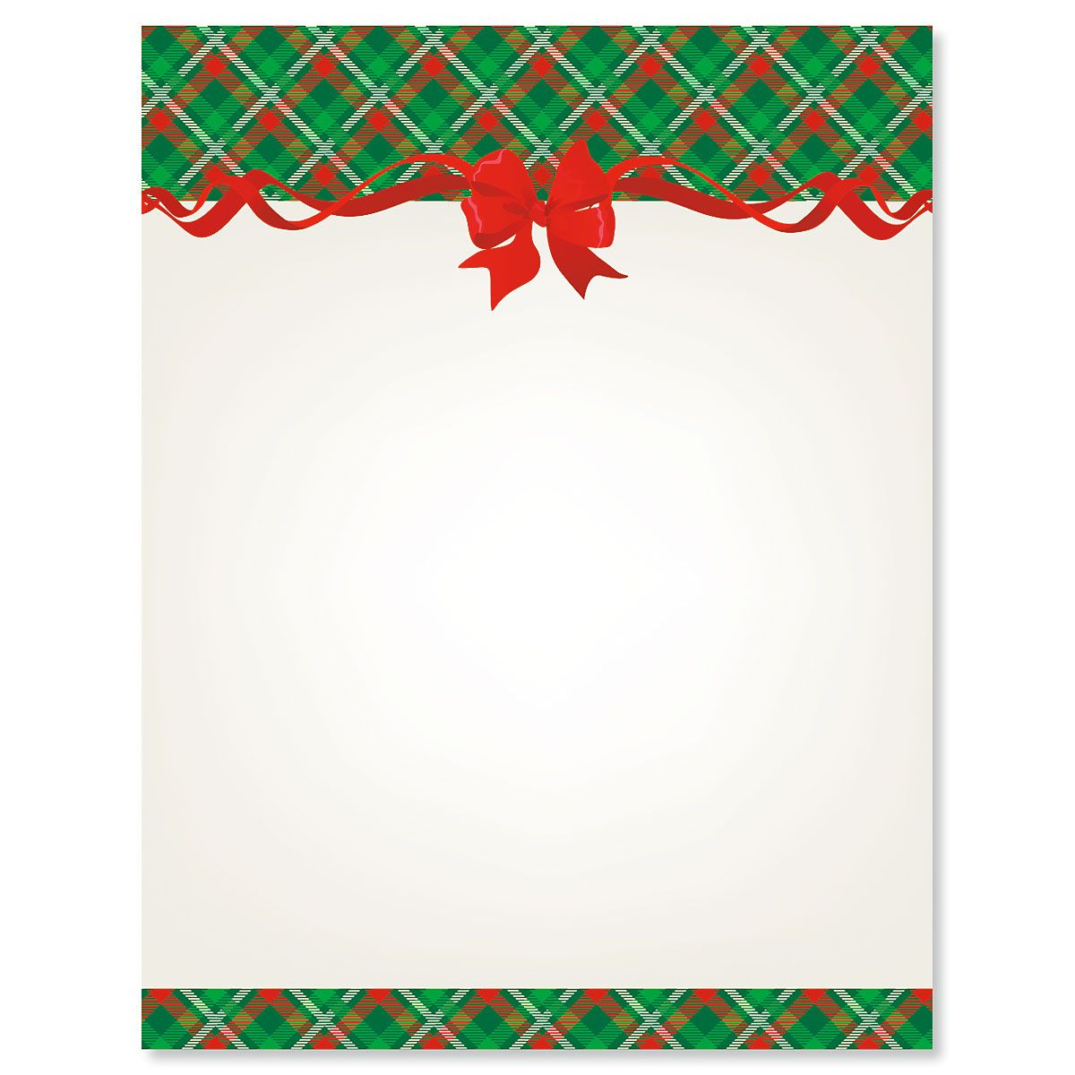 Plaid & Ribbon Letter Papers