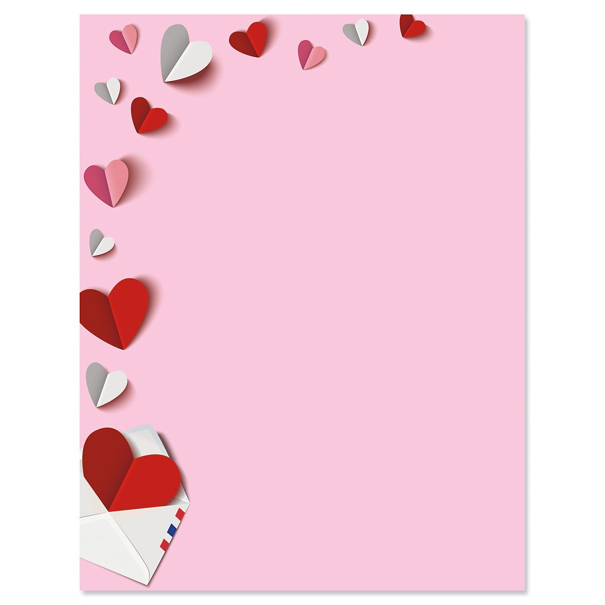 Paper Hearts Letter Papers