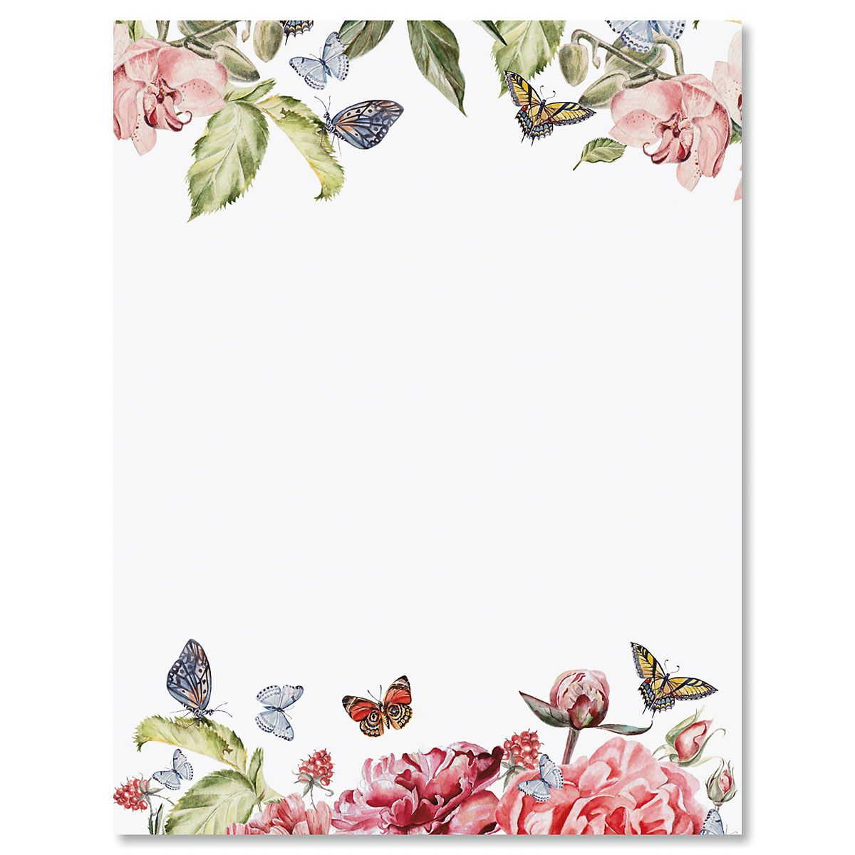 Flutter of Florals Letter Papers