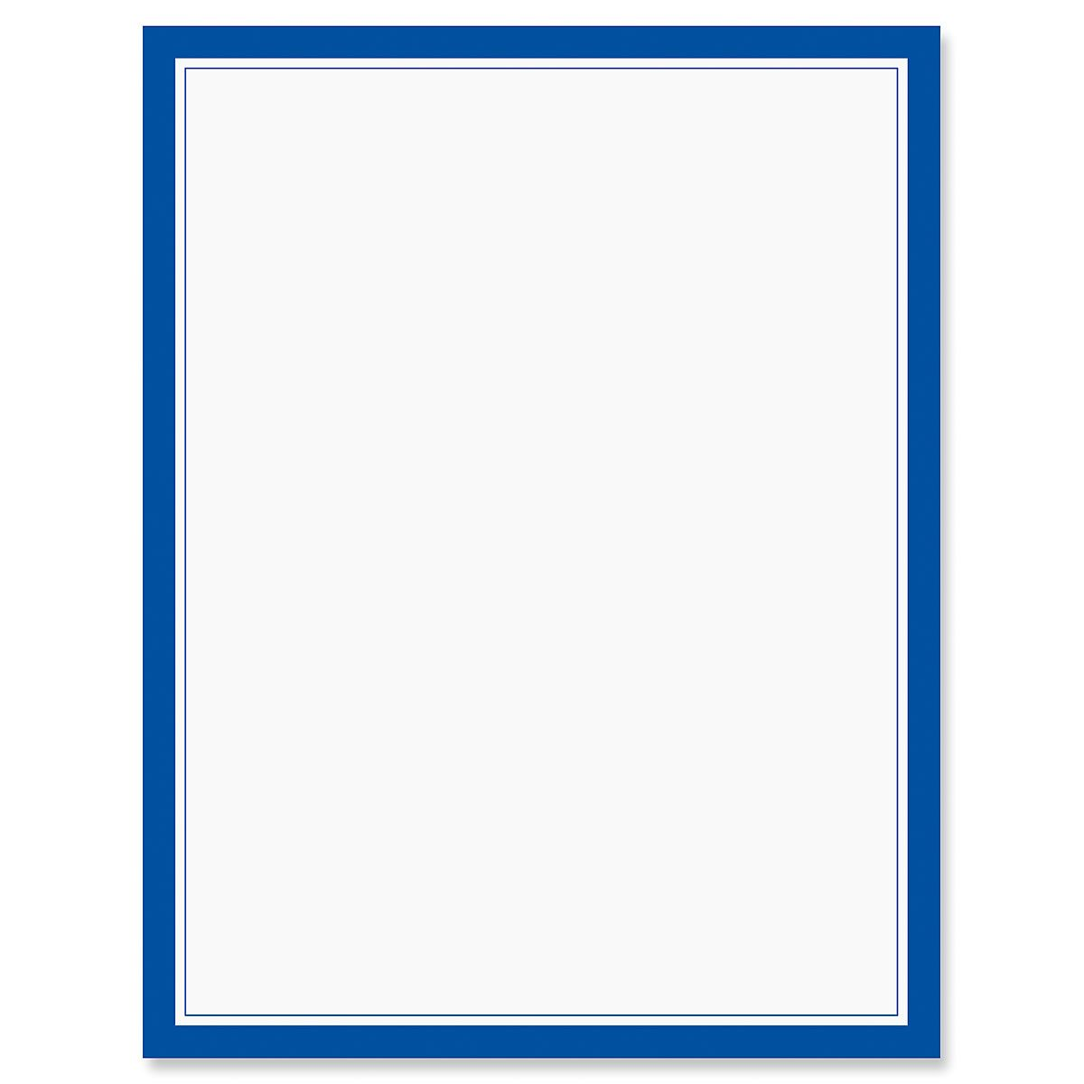 Blue Frame 4th of July Letter Papers