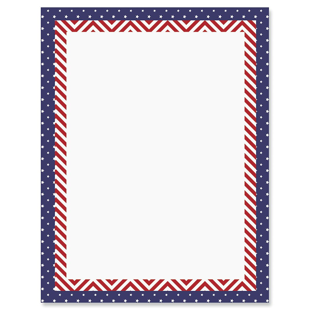 Patriotic Banner Letter Papers
