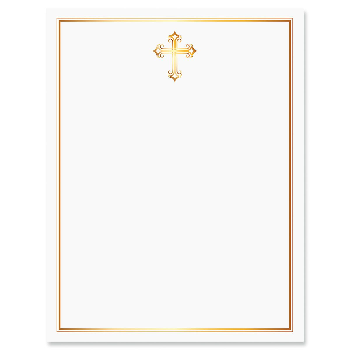 Golden Cross Letter Papers