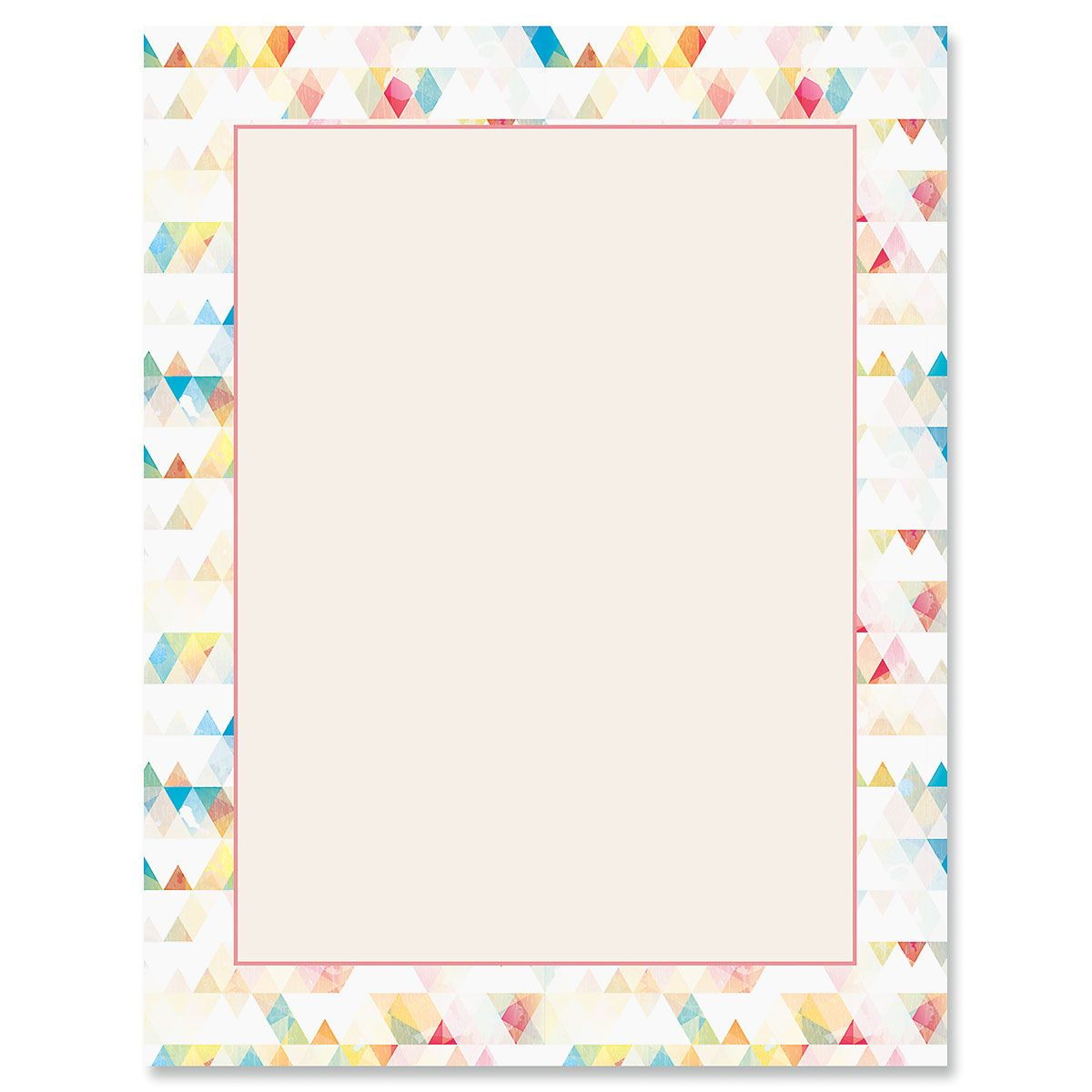 Triangle Rainbow Letter Papers