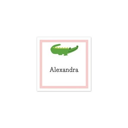 Alligator Pink Sticker