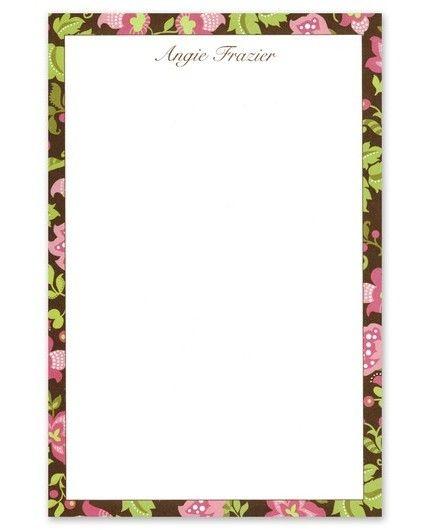Brown Floral Note Pad
