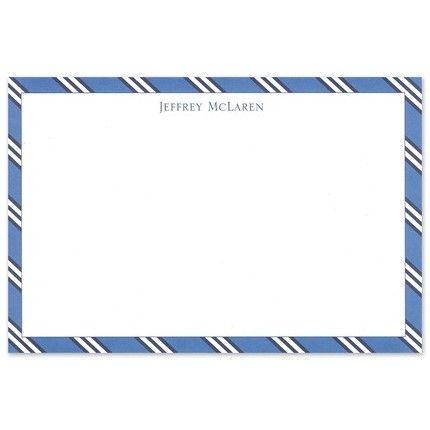 Blue Repp Flat Card