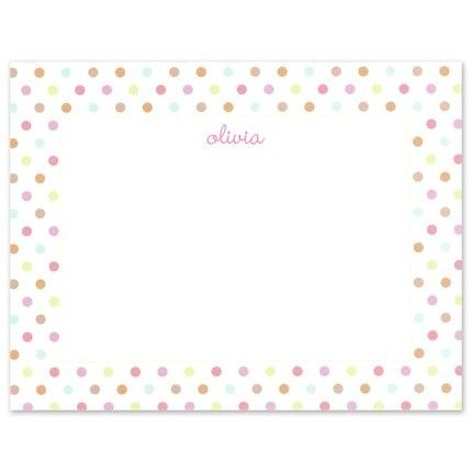 Simple Pink Confetti Flat Card