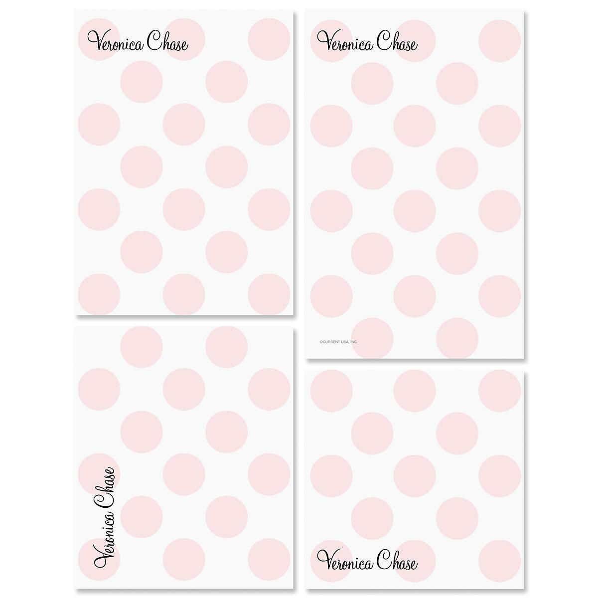 Pink Dots Note Pad Set