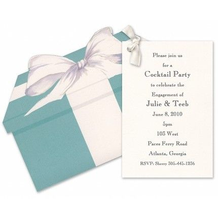 Tiffany Blue Box Invitation