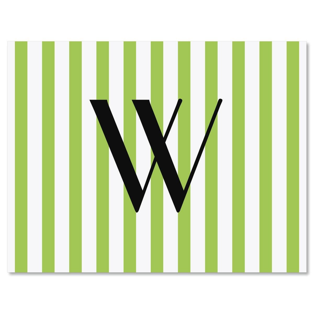 Stripes Initial Note Cards