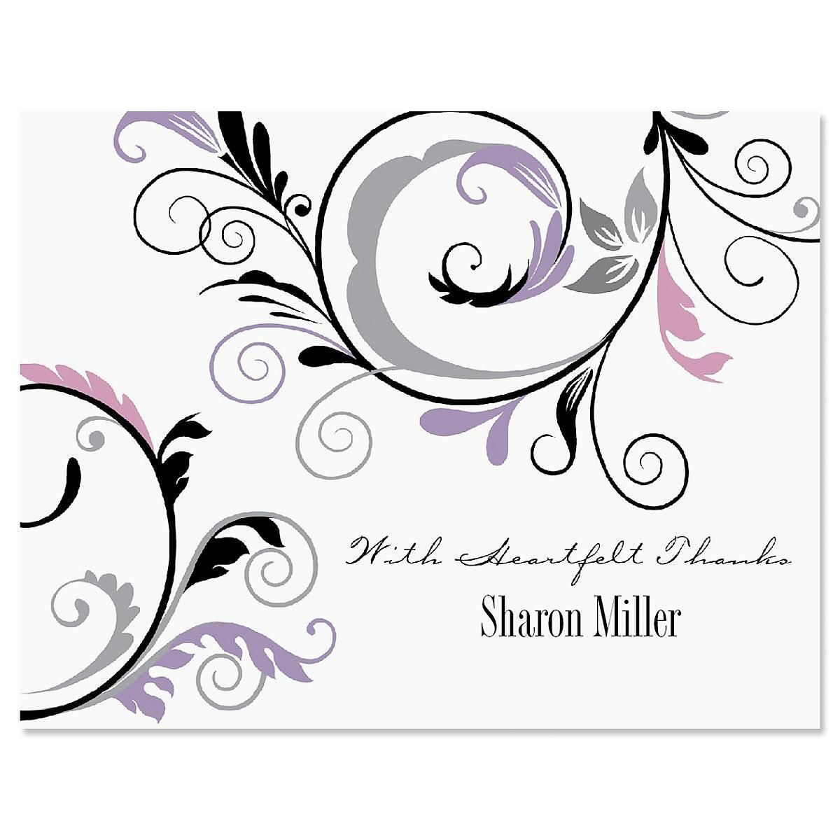 Black & Grey Fantasy Thank You Note Cards