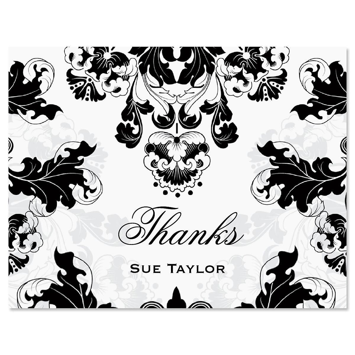 Rococo Thank You Note Cards