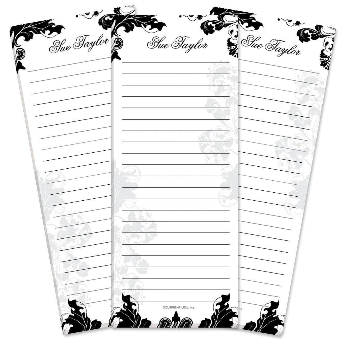 Rococo Lined List Pad