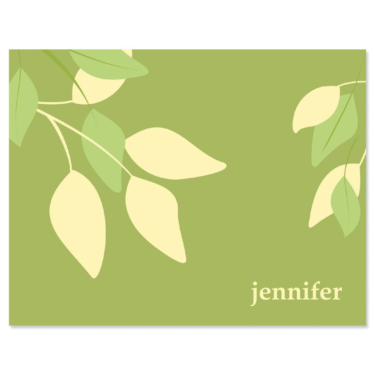 Sage Advice Note Cards-Green Yellow-609065A