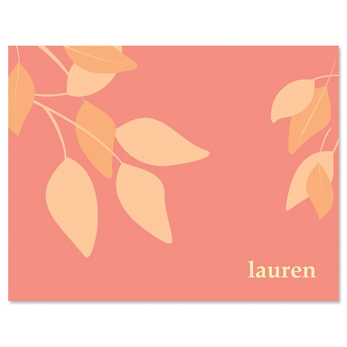 Sage Advice Note Cards-Red Orange-609065C