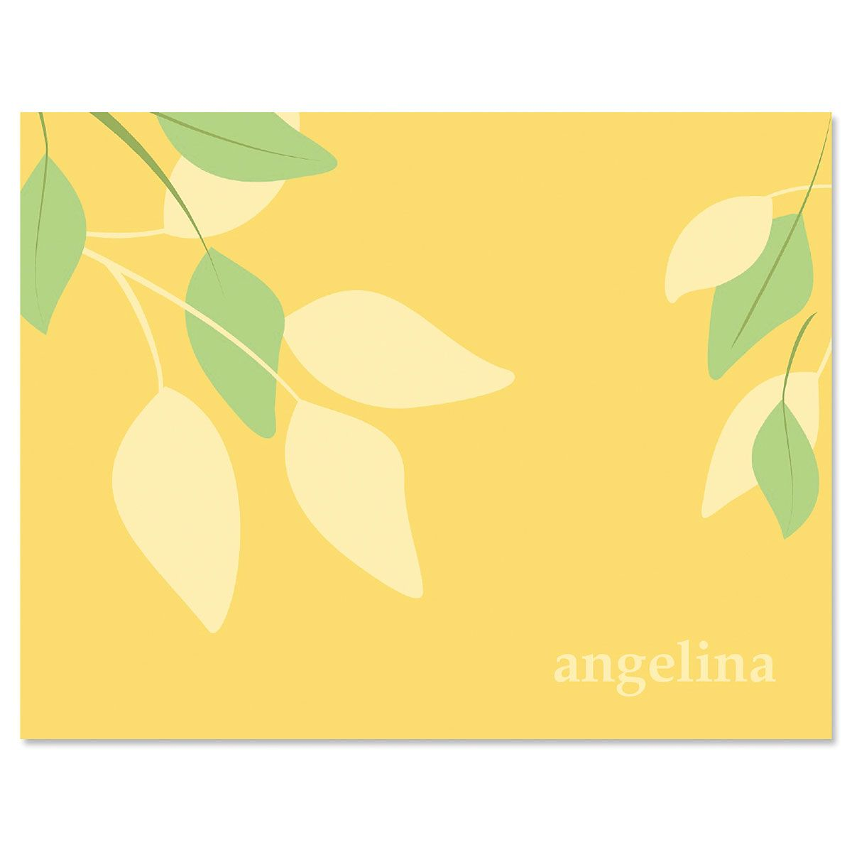 Sage Advice Note Cards-Yellow Green-609065D