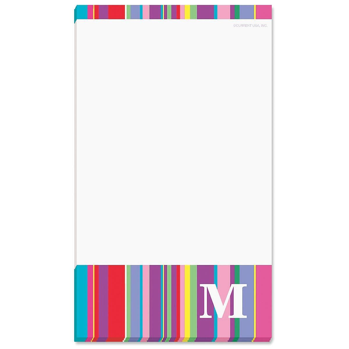 Bold Initial Note Pad