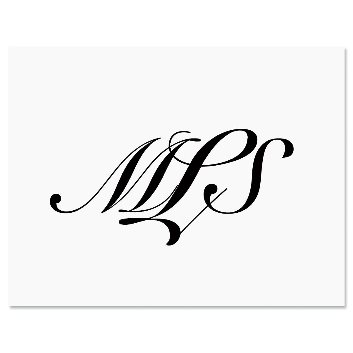 Black Elegant Personalized Note Cards