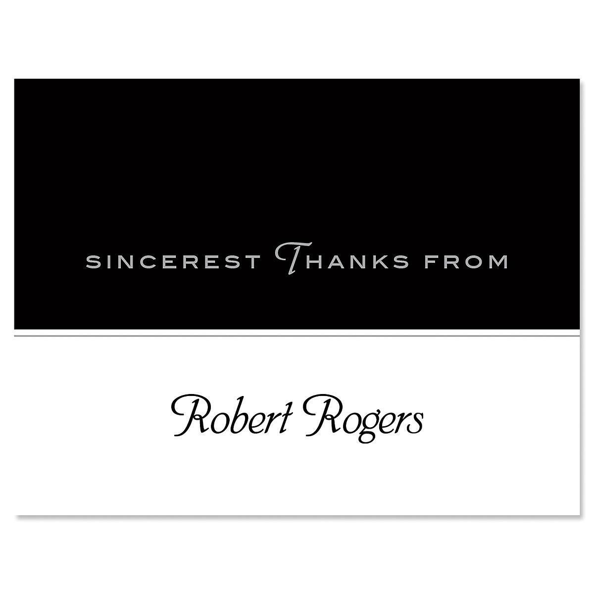 Black Rule Thank You Note Cards