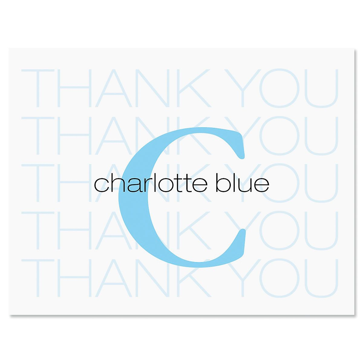 Alpha Beta Thank You Card-Blue-609317B