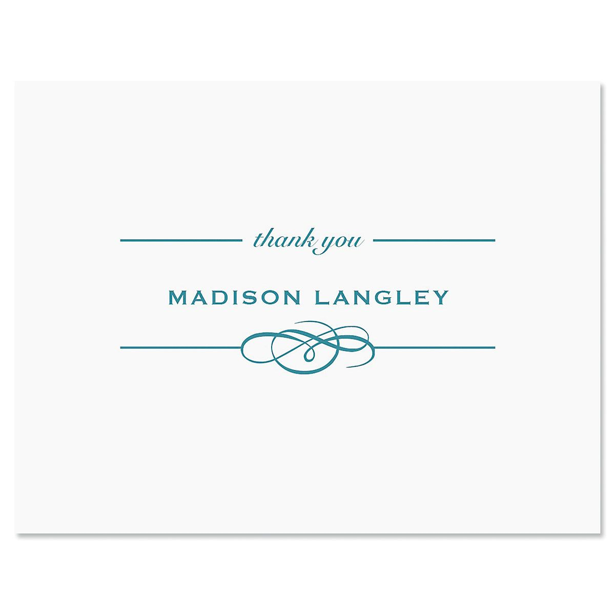 Distinction Thank You Card-Blue-609322A
