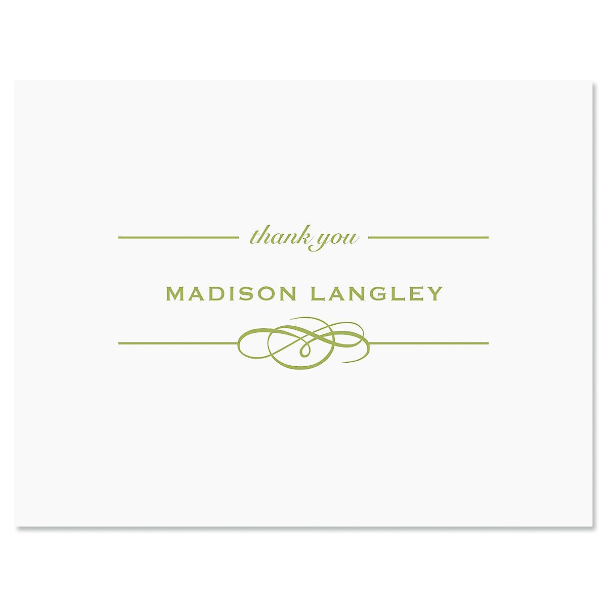 Distinction Thank You Card-Green-609322B