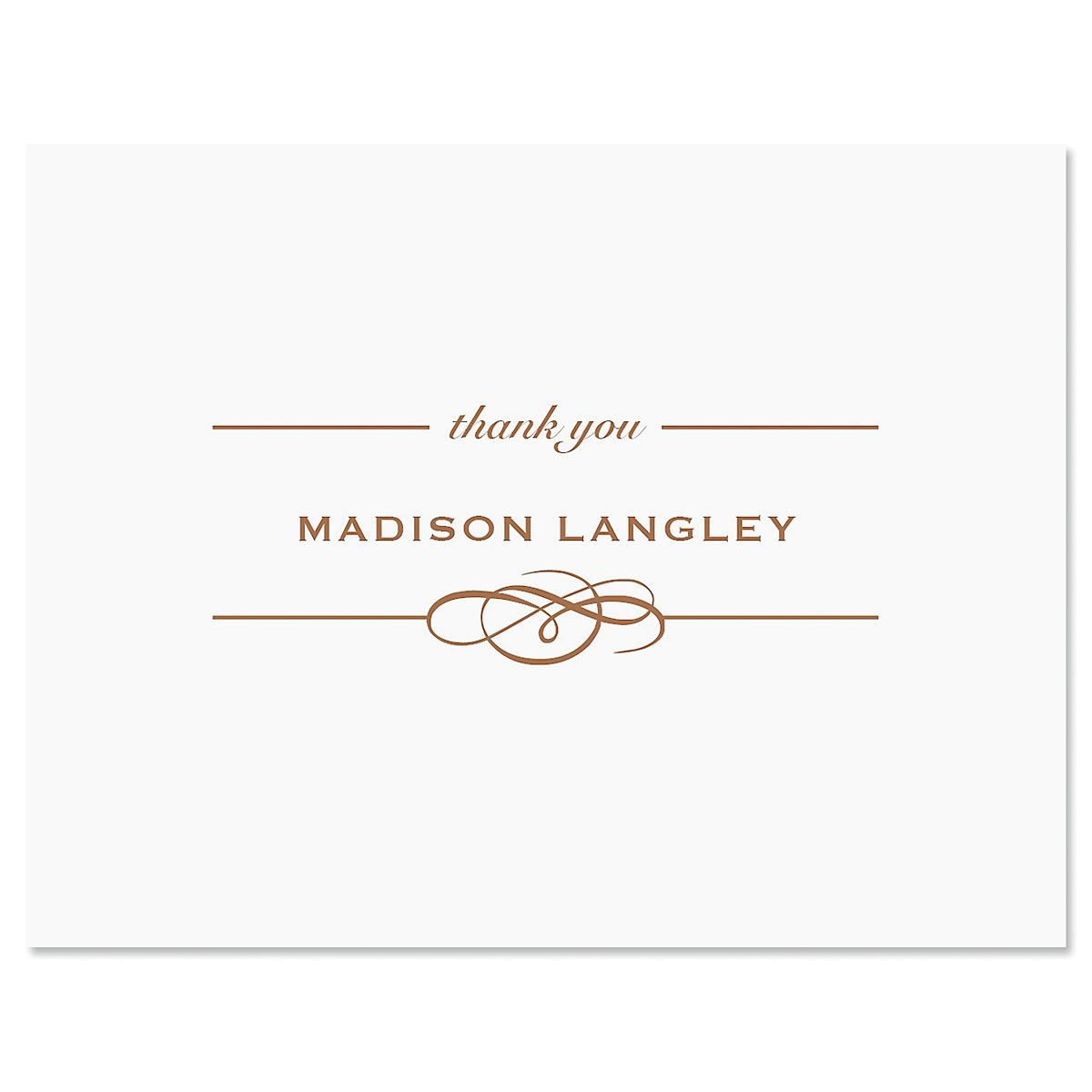 Distinction Thank You Card-Brown-609322C