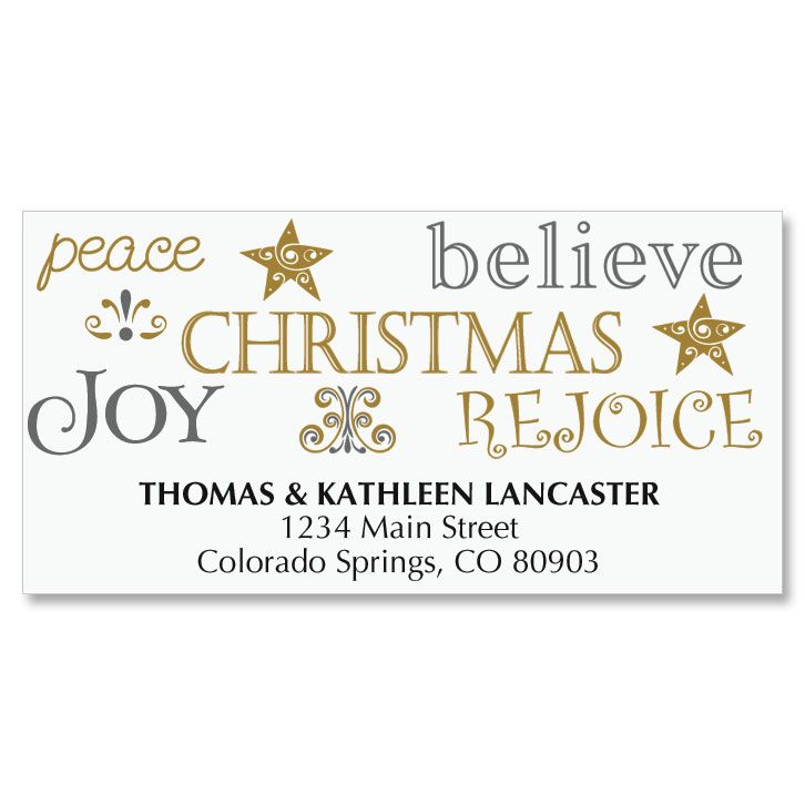 Tree of Faith Holiday Address Labels