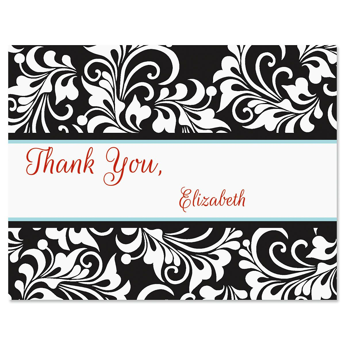 Opulent Thank You Note Cards