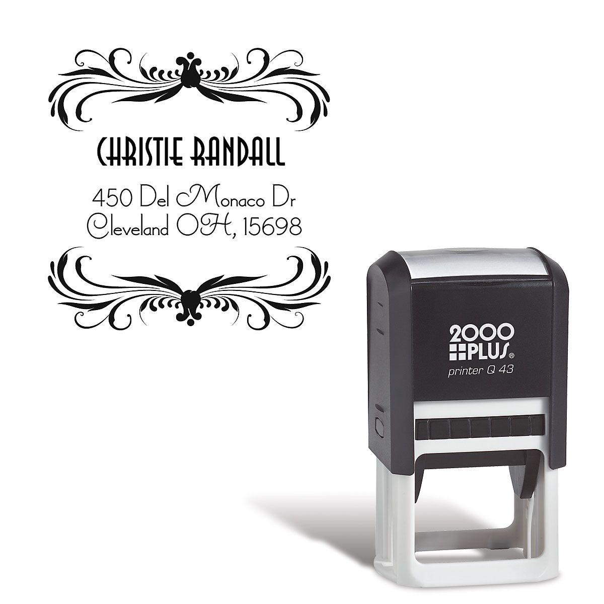 Deco Square Custom Address Stamp