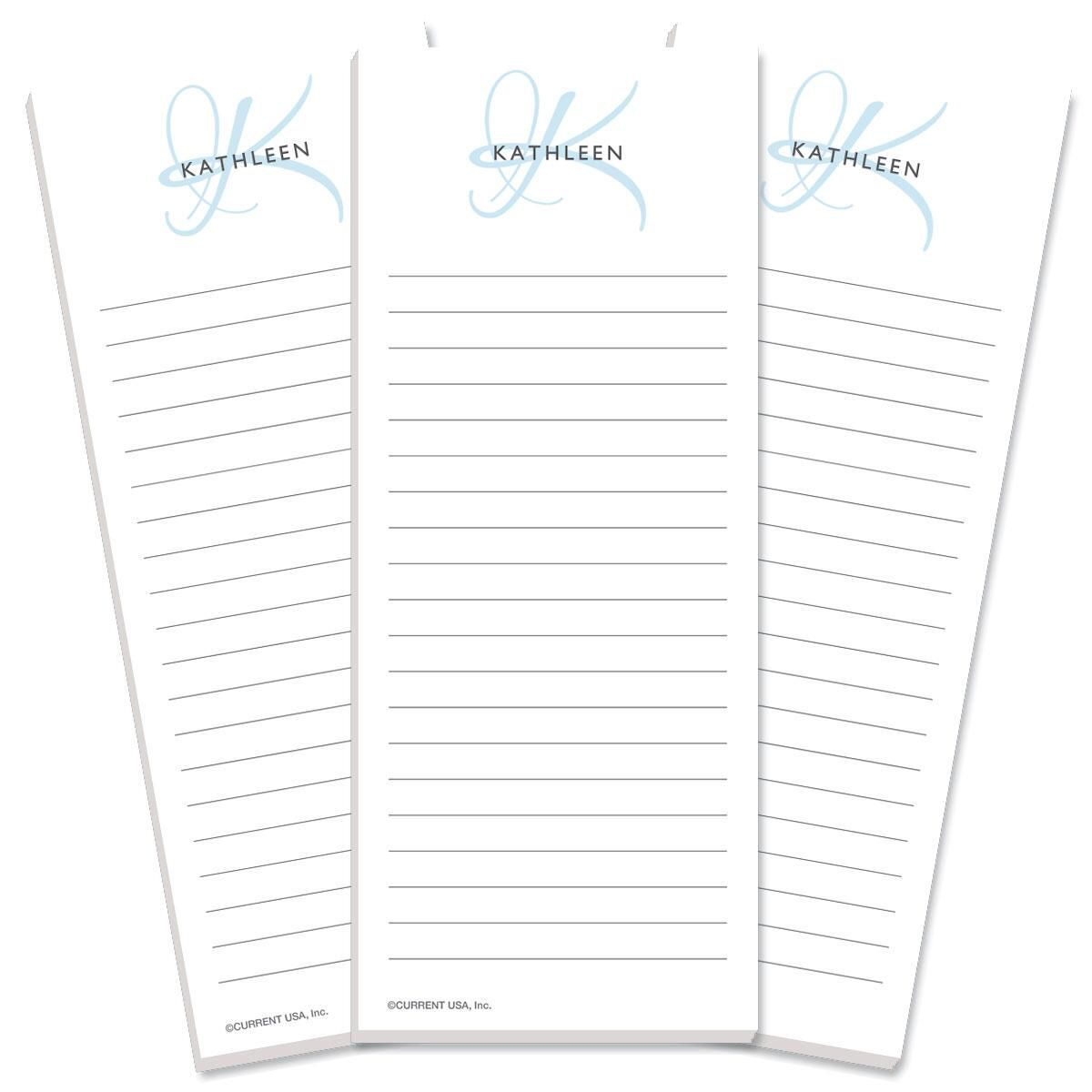 Initial Lined List Pad
