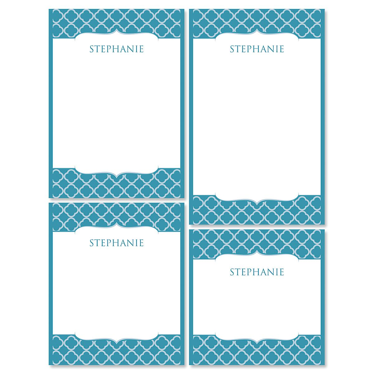 Renaissance Note Pad Set-Teal-613873A