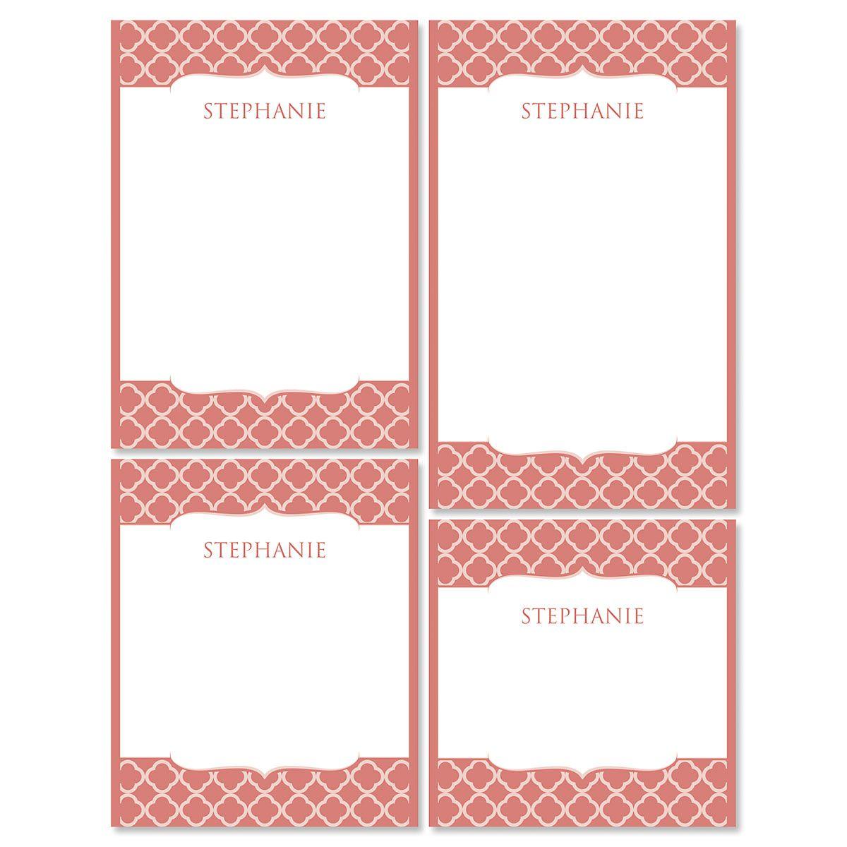 Renaissance Note Pad Set-Coral-613873D