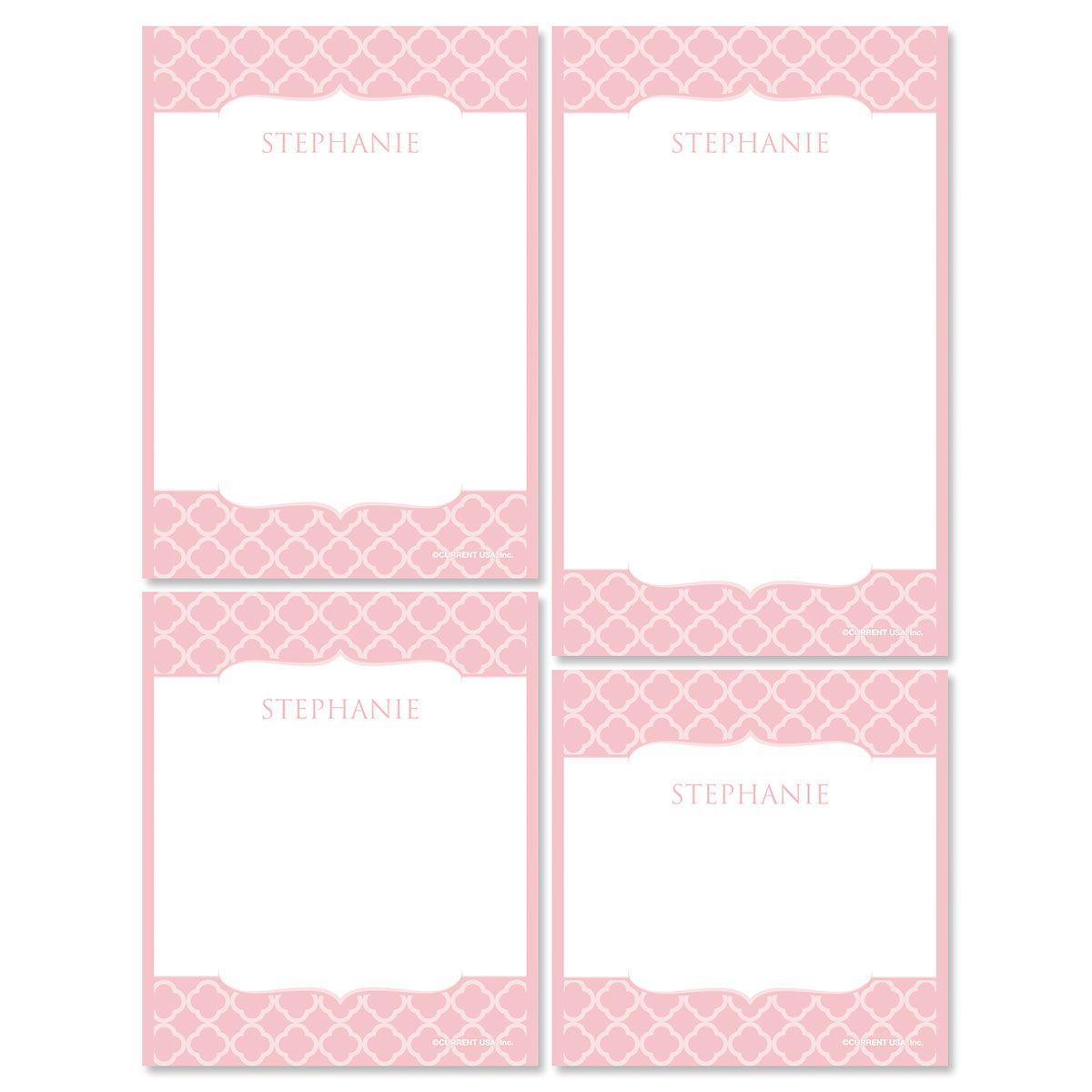 Renaissance Note Pad Set-Pink-613873E